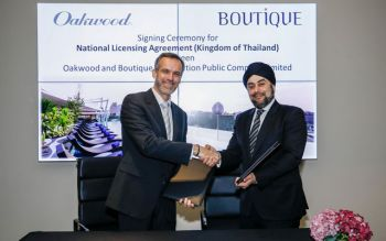 Oakwood and Boutique Corporation Enter Into a Strategic Partnership  to Launch Oakwood Hotels and Apartments in Thailand
