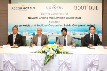 Boutique Corporation appoints AccorHotels to manage  Novotel Chiang Mai Nimman Journeyhub