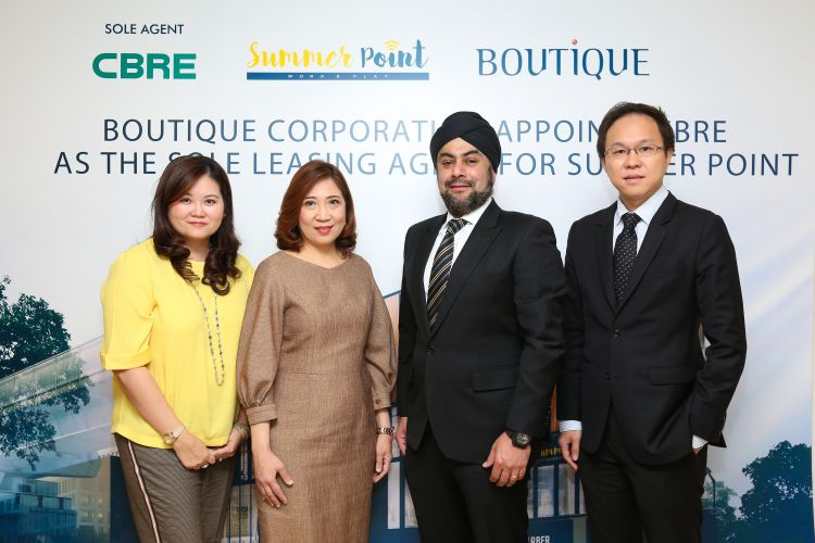 Boutique Corporation Launches Summer Point and Appoints CBRE as the Sole Agent